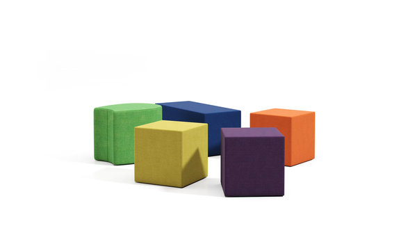 "W. SCHILLIG objects ""seat cube"", Hocker in verschiedenen Farben"