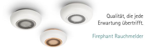 design rauchmelder firephant marke housegard inkl 10. Black Bedroom Furniture Sets. Home Design Ideas
